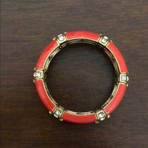 J crew orange and stone bracelet